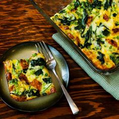 Chicken-Garlic Sausage, Kale, and Mozzarella Egg Bake was my pick for Daily Phase One Recipes on this date in 2013!  [from Kalyn's Kitchen] #LowCarb  #SouthBeachDiet