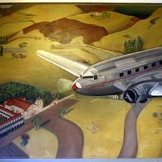 "Artwork ""Air Mail"", 1937, Artist: Elise Seeds, Oceanside Post Office--Oceanside, California."