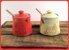 Emily Murphy Pottery porcelain honey pots