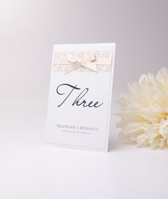 Wedding Table number/name #wedding #weddingplanner #weddingplanning #ribbon #bow #gettingmarried #handmade #weddingstationery