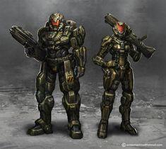 Starship troopers by AlienTan on DeviantArt Armor Concept, Weapon Concept Art, Science Fiction, Combat Suit, Combat Armor, Futuristic Armour, Starship Troopers, Female Armor, Future Weapons