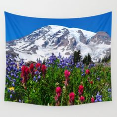 Mt. Rainier Skyline Trail, Mt. Rainier National Park Wall Tapestry