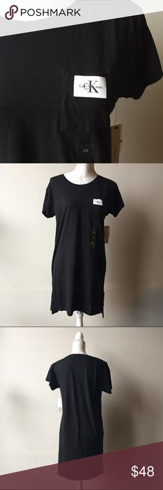 Calvin Klein jeans shirt dress Brand new with tags t-shirt dress from Calvin Klein jeans. Sporty and casual. Great to wear with some sneakers and a denim jacket. Calvin Klein Jeans Dresses