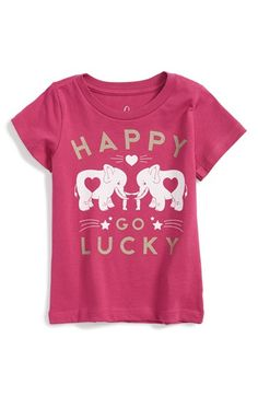 Peek+'Happy+Go+Lucky'+Pima+Cotton+Tee+(Baby+Girls)+available+at+#Nordstrom