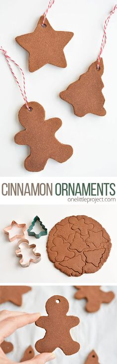 cinnamon ornaments smell SO GOOD and they're really simple to make! Only 3 ingredients and they give you that amazing Christmas baking smell! You can hang them on the Christmas tree as is, or decorate them with puffy paint. Such a fun Christmas craft! Christmas Crafts For Kids, Christmas Activities, Diy Christmas Ornaments, Homemade Christmas, Christmas Projects, All Things Christmas, Holiday Crafts, Holiday Fun, Christmas Holidays