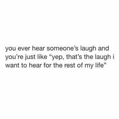 YES! I will always remember your laugh. It puts a smile on my face, every time I reply it in my head. 😍