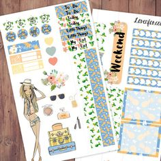 Example 1 of how clipart is used in planner stickers... it's referred to as 'deco' by planner sticker uses and business owners.