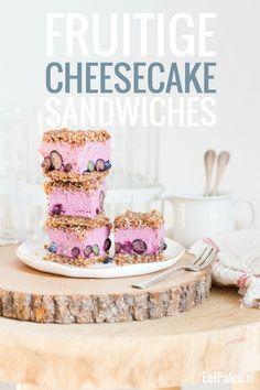 Fruitige Cheesecake Sandwiches (Paleo, Glutenvrij, Lactosevrij)