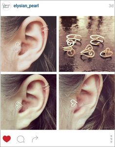 Ear and tragus cuffs!