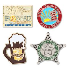 16 days lead time. Our Soft Enamel Lapel Pins are the most versatile and widely used in our family of pins. Soft Enamel Lapel Pins come with military/butterfly clutch. Our Soft Enamel pin is die struck to create your design with a high quality finish. The polished metal separates color. PMS color matching is available on our Soft Enamel Lapel Pins. Price includes up to four color.