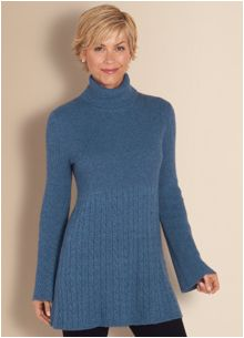 Feel comfy, cozy, and most importantly warm all day in this cashmere blend tunic. (Via www.softsurroundings.com)