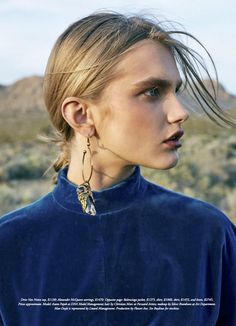 Desert Bloom: Aneta Pajak by Max Doyle for Harper's Bazaar Australia September 2017