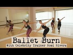 Ballet Burn With Christine Bullock and Romi Rivera Wellness Fitness, Yoga Fitness, Fitness Tips, Ballet Fitness, Christine Bullock, Ballet Barre Workout, Ballerina Workout, Ballet Body, Ballet Style