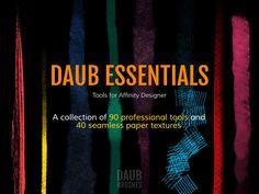 DAUB | Affinity Designer Essentials - 90 Tools and 40 Textures