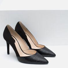 ТУФЛИ НА КАБЛУКЕ КОМБИНИРОВАННЫЕ - Просмотреть все - Обувь - Женщины - НОВАЯ КОЛЛЕКЦИЯ   ZARA Российская Федерация