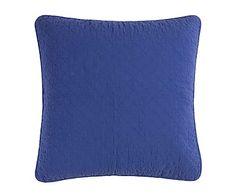 Cojín de algodón Stone, azul - 80x80 cm