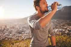 The myth of coffee and tea being dehydrating has been debunked, but do they count toward your daily water intake? Find out the best way to stay hydrated. Take A Break, Take That, Daily Water Intake, Beachbody Blog, Photos Booth, Excessive Sweating, Running Tips, Running Training, Trail Running