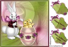 Hoppy Easter by Cherie Courtney Cut & fold , Happy Easter, Have a Blessed Easter and one blank