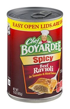 Chef Boyardee Extra Y Beef Ravioli 15oz Can Pack Of 6 By Awesome Products Selected Anna Churchill