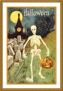 Victorian Skeleton Halloween