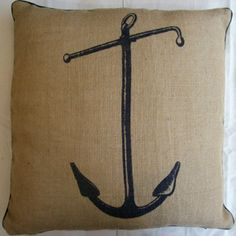 Lovely nautical pillow by Thomas Paul.