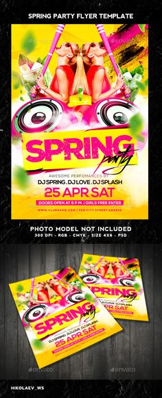 Spring Party Flyer  Party Flyer Print Templates And Flyer Printing