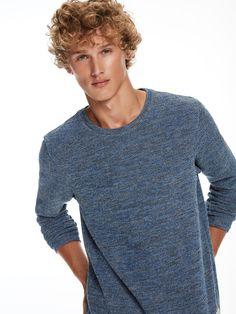 Structured Melange Sweatshirt