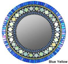 Striking handmade mosaic mirror from Seattle-based Zetamari. Mirror Mosaic, Mosaic Art, Mosaic Glass, Mosaics, Blue Mosaic, Mosaic Crafts, Mosaic Projects, Art Crafts, Mosaic Designs