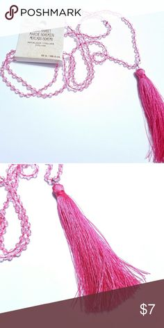 Bead Landing- 42 inch beaded Mala necklace Beautiful pink mala necklace with light pink crystal beads - 42 inches Bead Landing Jewelry Necklaces