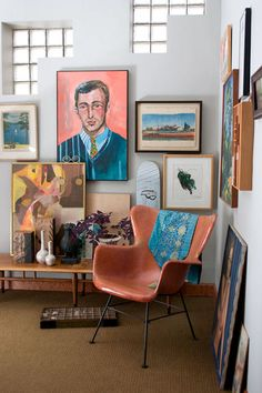 art cluster + mid century chair