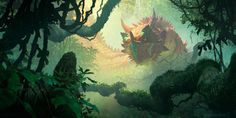 ArtStation - Elderscale Wurm, Richard Wright