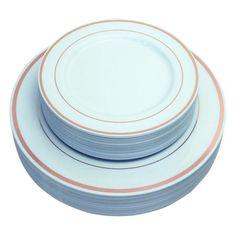 "Silver 7/"" Plastic Desert Plates 40 Per Pack Creative Converting"