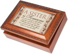Cottage Garden Sister Is Someone Woodgrain Music Box  Jewelry Box Plays Wind Beneath Wings >>> For more information, visit image link.