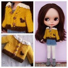 Blythe Outfit, Handmade Sweater for doll. Cardigan.