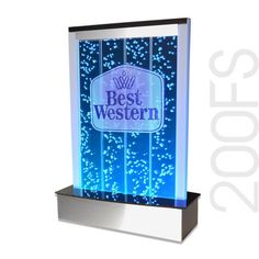 """Custom Engraved Table Top Bubble Wall LED Reception Fountain Water Feature 200LE 20"""""""