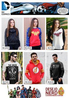 #DesejoNerd Inverno quentinho da DC Comics - coleção de moletons e camisetas da DC Comics