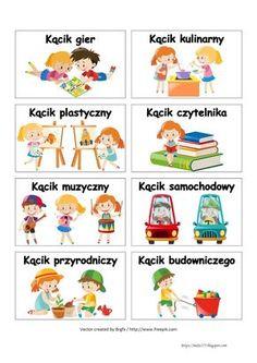 BLOG EDUKACYJNY DLA DZIECI: WIZYTÓWKI DO KĄCIKÓW - PRZEDSZKOLE Games For Kids, Games To Play, Polish Language, Kids Background, Kids Education, Toddler Activities, Kids And Parenting, Kids Learning, Kindergarten