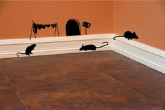 Hey, I found this really awesome Etsy listing at https://www.etsy.com/listing/169077507/fun-mouse-hole-wall-decal-clothesline