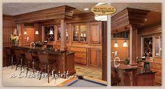 Showplacewood.com - Door style: Covington|Species: Lyptus|Finish: Distressed Truffle with Ebony glaze