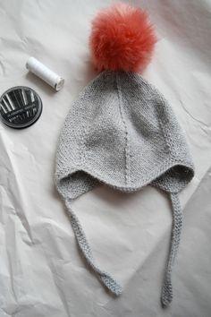Ladybirds Nest Djevellue - hjelmlue - med dusk DIY Devil hat / Helmet hat pompom Kid - baby