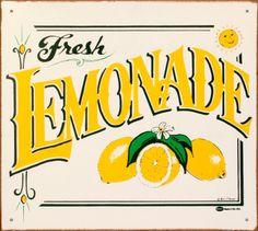 Make pink lemonade sign - mmmmmm Pub Vintage, Vintage Metal Signs, Vintage Labels, Vintage Room, Printable Vintage, Vintage Kitchen, Lemonade Sign, Pink Lemonade, Lemonade Stands