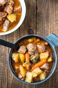 This delicious Slow Cooker Irish Stew is easy to make and is hearty and packed with goodness! I may not be Irish, but that doesn't mean I can't love the st