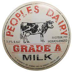 "CWI Gifts Milk Bottle Lid Tin, 12"" x 2"", Antique Cream/Bl... https://www.amazon.com/dp/B00C2GWNVY/ref=cm_sw_r_pi_dp_AyTMxb0CW1M4C"