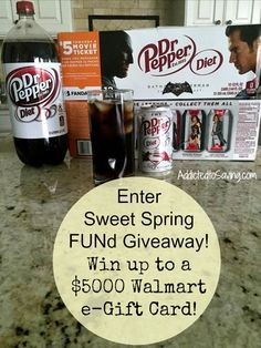 Enter to Win a $5000 Walmart e-Gift Card with #SweetFUNd #sponsored #ad #drpepper  http://www.addictedtosaving.com/sweet-spring-fund-contest/