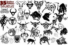 Taurus Horoscope Symbol Taurus zodiac tattoo design