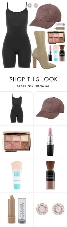 """""""Yeezy"""" by maritkrijt ❤ liked on Polyvore featuring SPANX, Vianel, YEEZY Season 2, MAC Cosmetics, Maybelline, Karin Herzog and Forever New"""