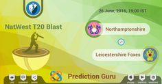 Predict the winner and get cash, at  #T20Blast #Cricket