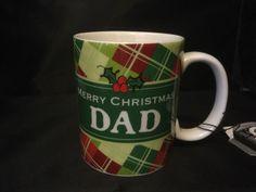 Merry Christmas Dad Coffee Cup Mug Holly
