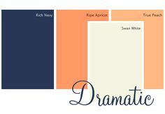A bold, sophisticated color combination from @Diane Henkler {InMyOwnStyle.com}. Colors: Rich Navy, Ripe Apricot, Swan White, True Peach.