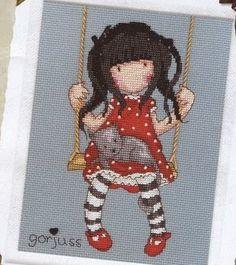 Baúl de Punto de Cruz: Muñecas Gorjuss Ribbon Embroidery, Cross Stitch Embroidery, Cross Stitch Patterns, Cross Stitch For Kids, Cross Stitch Love, Cross Stitch Collection, Patchwork Bags, Hama Beads, Cross Stitching